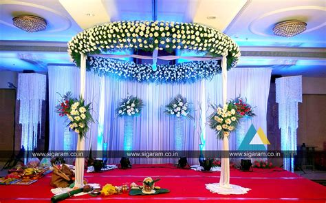 wedding reception decorations reception and wedding stage decoration at accord hotel