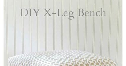 diy x leg bench nine red how to diy quot x quot leg bench