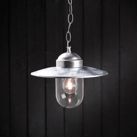 Steel Pendant Light Luxembourg Pendant Galvanised Steel Lighting Direct