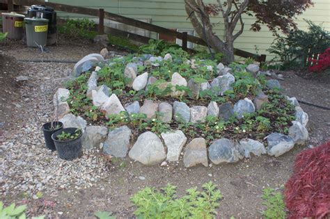 Raised Rock Garden Beds Raised Bed Rock Borders The Strawberry Garden Rock Gardens Raising Rock