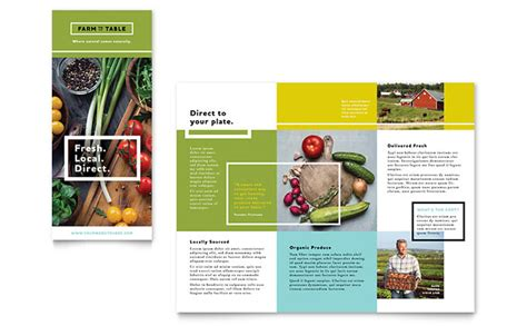 Free Food Brochure Templates organic food brochure template design