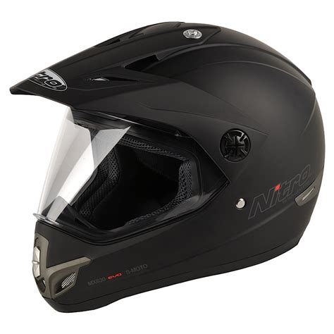 motocross crash helmets nitro mx630 full face dual sport plain motorcycle