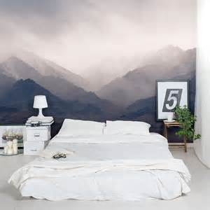 wall mural bedroom misty mountains wall mural