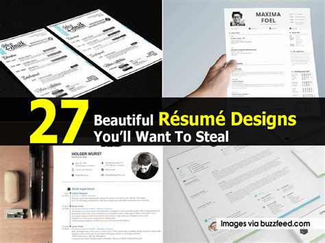 Resume Tips Buzzfeed 27 Beautiful R 233 Sum 233 Designs You Ll Want To