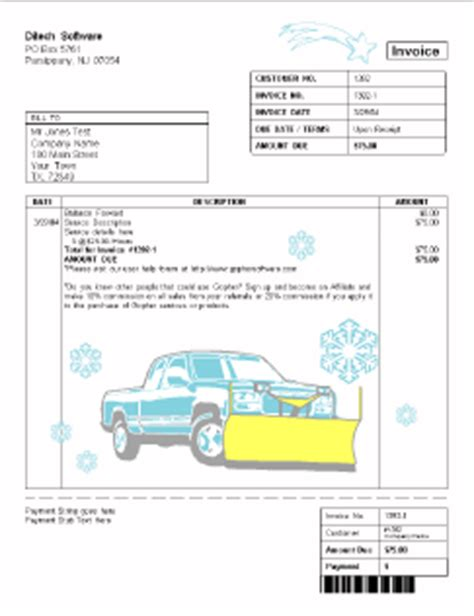 snow removal invoice template lawn care invoice exles studio design gallery