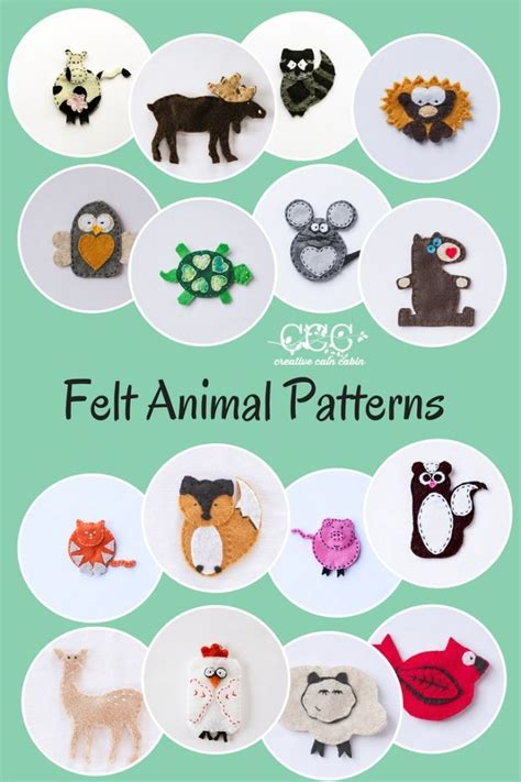 free pattern small felt animals 25 best ideas about felt animal patterns on pinterest