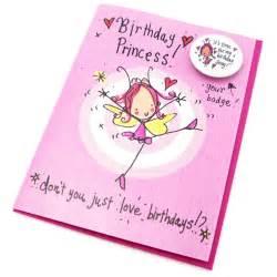 birthday princess badge card by