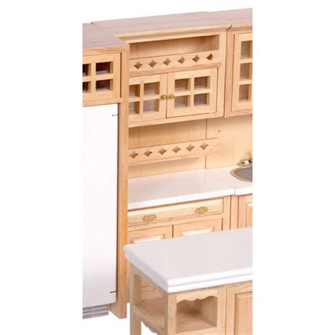 cabinet w shelves oak dollhouse kitchen cabinets