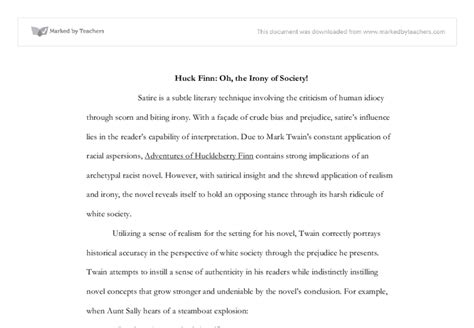 racial themes in huckleberry finn social themes in huckleberry finn adventures of