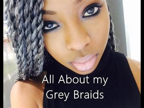senegalese twists for gray hair all about my grey silver senegalese twists youtube