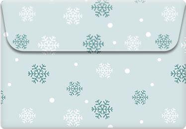 printable envelope template snowflakes  island