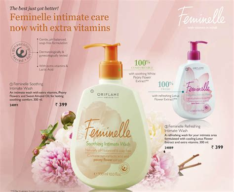 Feminelle Mild Intimate Wash and fashion obsessions oriflame sweden feminelle