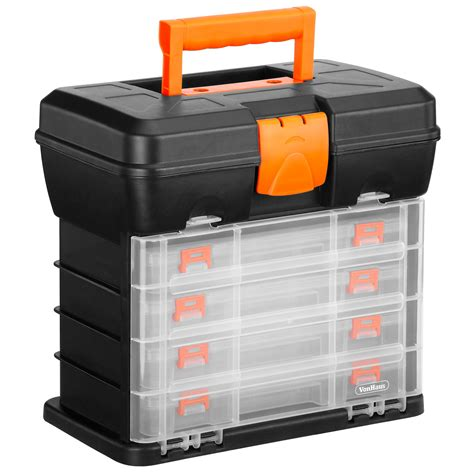 Storage Box 2 In 1 Organizer Pakaian Dalam vonhaus utility diy storage tool box carry 4 drawers organiser dividers ebay