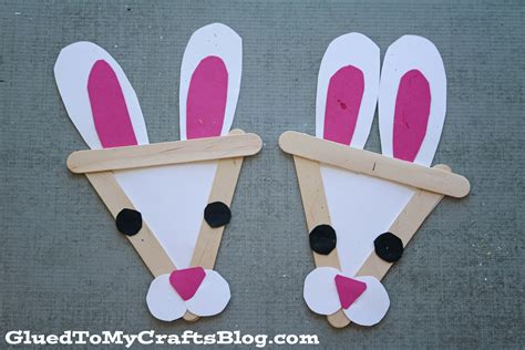 popsicle stick craft popsicle stick bunny kid craft glued to my crafts