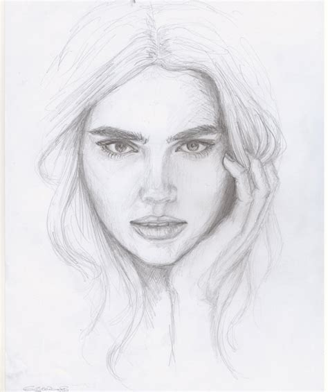 human face pencil drawing image drawing of sketch