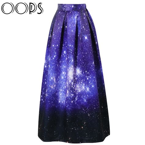 vintage skirt 2016 casual starry sky