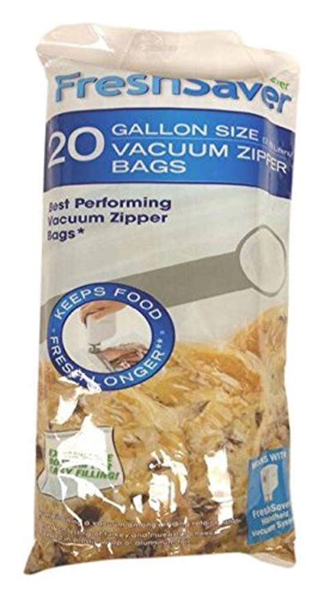 Sealer Penutup Bungkus Snack Size L foodsaver freshsaver gallon size vacuum zipper bags 20 count chickadee solutions