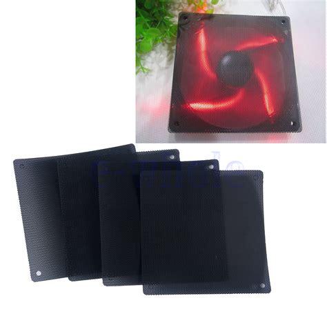 pc fan dust filter 4pcs cuttable black pvc pc fan dust filter dustproof case