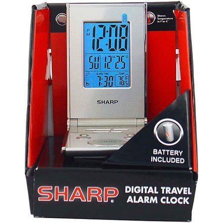 sharp lcd folding travel alarm silver walmart