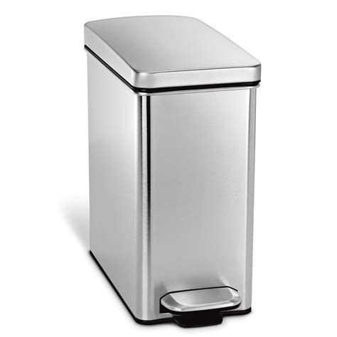 slim kitchen trash can slim stainless steel kitchen trash can home design ideas and trash cans and recycling bins