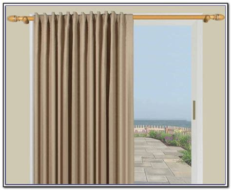 curtain rod for door sliding door curtain rod without center bracket patios