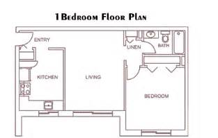 Plan Of 1bed Room Flat