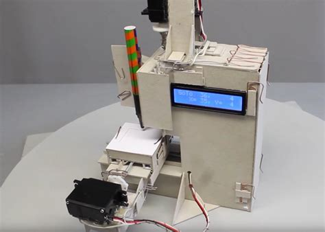 Paper Clip Machine - paper cnc machine created using card and paperclips