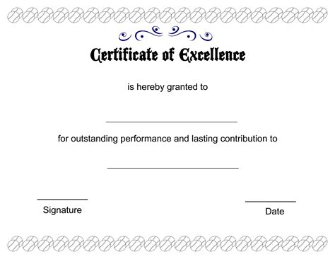 certificate of excellence templates certificate of excellence template helloalive
