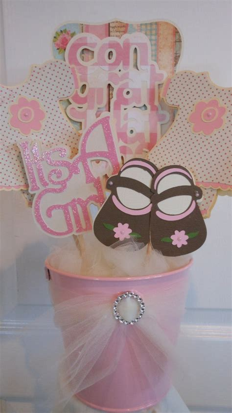 centerpiece shabby chic pinterest baby showers chic and babies