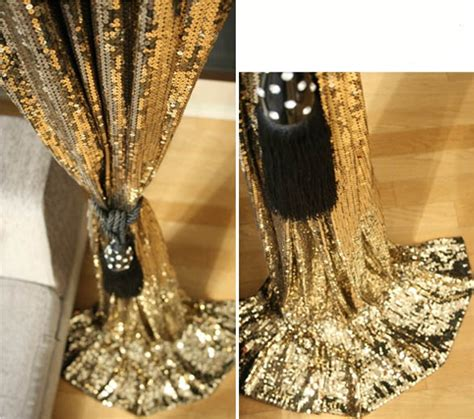 sequin curtain panel gold sequin curtains inspiration diy try pinterest