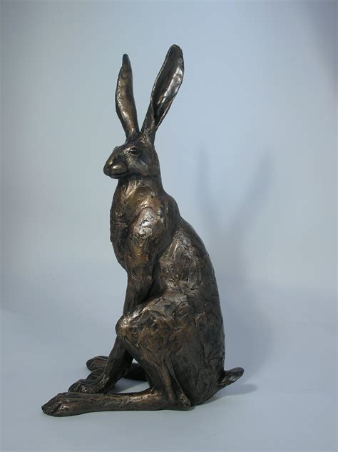 Large Outdoor Planters For Trees by Sitting Hare Sculpture Large 163 149 99