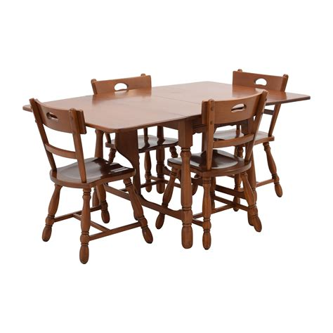 maple dining table and chairs 83 maple dining table with four matching chairs