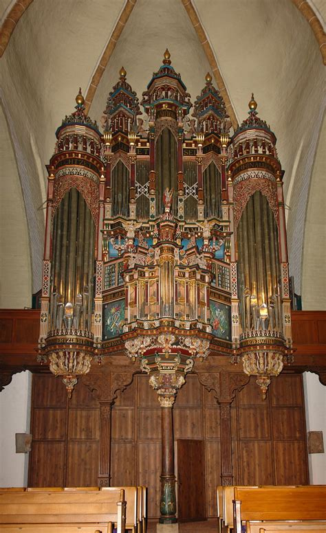 Pipe Organ Fish Church Conservancy Highly Decorated Organ In St Martini Church Bremen