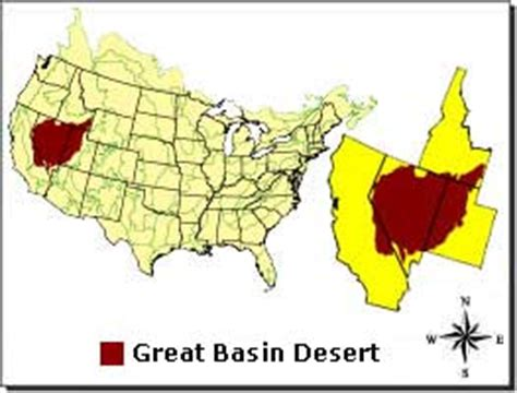 map of the united states great basin great basin desert desertusa