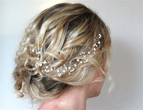 Wedding Hair Accessories With Pearls by Pearl Hair Vine Wedding Hair By Roslynharrisdesigns