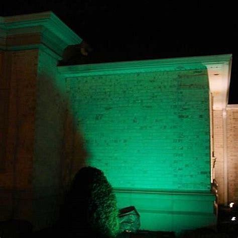 Green Light Solar Commercial Grade Color Changing Solar Flood Light