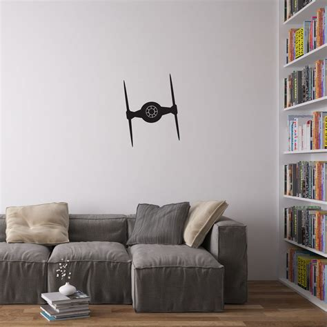 imperial home decor imperial ti fighter vinyl wall art decal for home decor