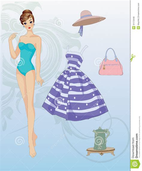 Make Cut Out Paper Dolls - paper doll with clothes royalty free stock photos image