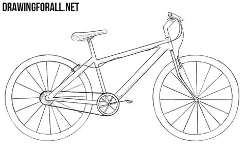 How To Draw A Bicycle Step By Step For