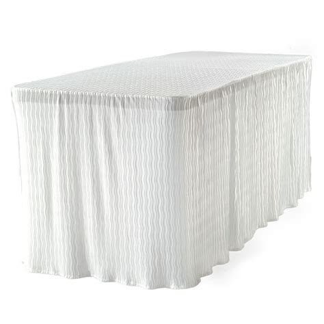 6 foot table cloth the folding table cloth 6 ft white table cloth made for folding tables 3072wht the home depot