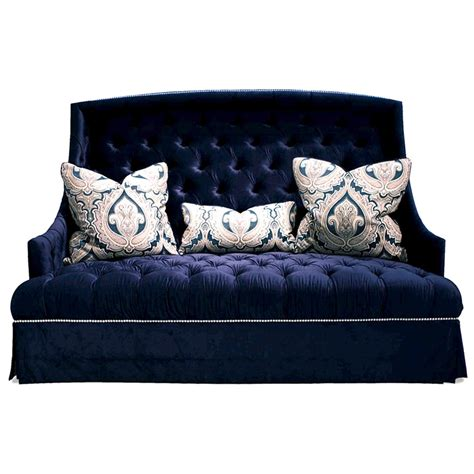 navy blue tufted sofa regency sofa navy blue tufted haute house home