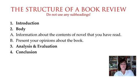 structure of a book report book review part 3 7 how to structure a book review