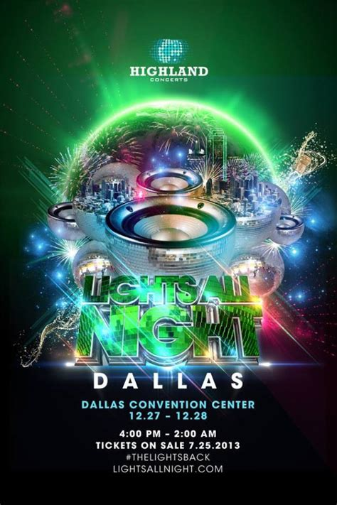 Lights All 2014 Lineup by Lights All Returns To Dallas December 27 28
