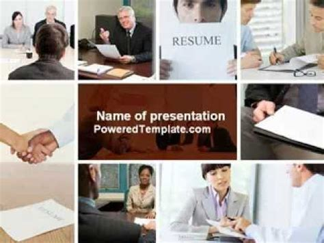 powerpoint templates for job interviews job interview powerpoint template by poweredtemplate com