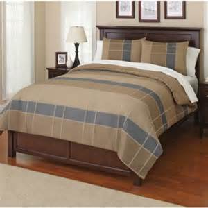 Canopy Bedroom Comforter Sets Canopy Grid Bedding Comforter Set Walmart