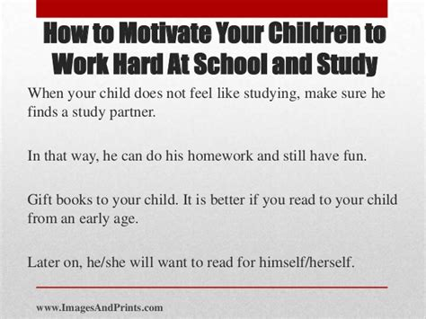 how to motivate children to do home