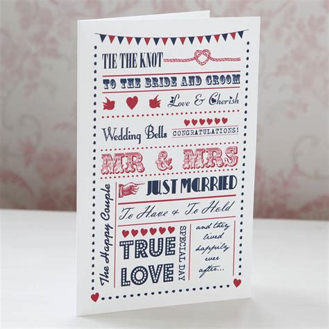 Wedding Typography by Wedding Congratulations Typography Card By Lovely Jubbly