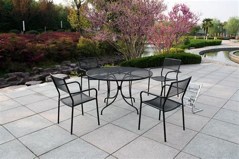 Metal Patio Table Set Cast Iron Patio Set Table Chairs Garden Furniture