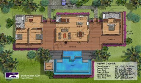 Medewi Gado Nr Tropical Floor Plans For Houses