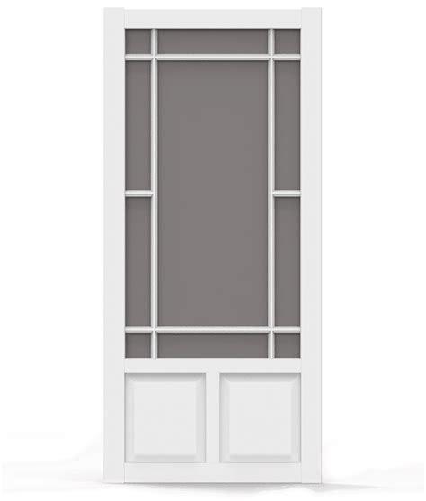 Which Is Better Vinyl Or Aluminum Screen Door - prairieview white vinyl screen door screen tight wood